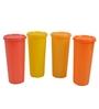 Tupperware Jumbo Multicolour Plastic 470 ML Tumbler with lid - Set of 4