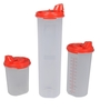 Tupperware Magic Easy Flow Red Plastic Oil Dispenser with lid - Set of 3