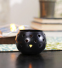 Tu Casa Black Heart LED Candle Holder