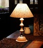 The Light House White & Silver Shade Classic White Lamp