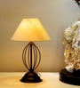 Tu Casa Conical Off White Metal Table Lamp