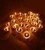 Tu Casa Golden Upward Diya-shaped String Light