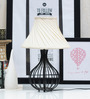 Tu Casa Off-white Poly Cotton Pleated Lamp Shade