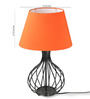 Tu Casa Orange Poly Cotton Oval Lamp Shade