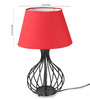 Tu Casa Red Poly Cotton Oval Lamp Shade