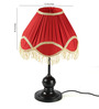 Tu Casa Red Poly Cotton Frill Lamp Shade