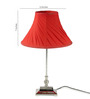 Tu Casa Red Poly Cotton Pleated Lamp Shade