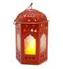 Tu Casa Red Tomb LED Candle Holder
