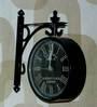 Tu Casa Black 10 inch Victorian Station Clock