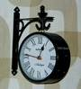 Tu Casa White Black 10 inch Victorian Station Clock