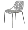 Tulip Stackable Chair with Designer Back in White Colour by Starshine