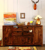 Tulsa Multi Storage Solid Wood Sideboard in Provincial Teak Finish by Woodsworth