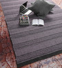 Tulsiram Rugs Black & Grey Wool 90 x 63 Inch Geometric Carpet