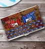 Tungs10 Folk Expression Elephant Stainless Steel Multicolour Card Holder