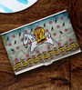 Tungs10 Folk Expression Lady Warrior Stainless Steel Multicolour Card Holder