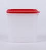 Tupperware Smart Saver White & Red Plastic 1700 ml Airtight Container - 1 piece