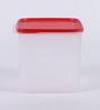 Tupperware Smart Storer White & Red Rectangular Plastic 3.9 L Container - Set of 2