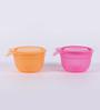 Tupperware Versa Orange and Pink Plastic 650 ml Bowl with lid - Set of 4