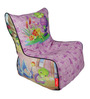 Turtle Digital Printed Filled Bean Chair in Multicolour by Orka