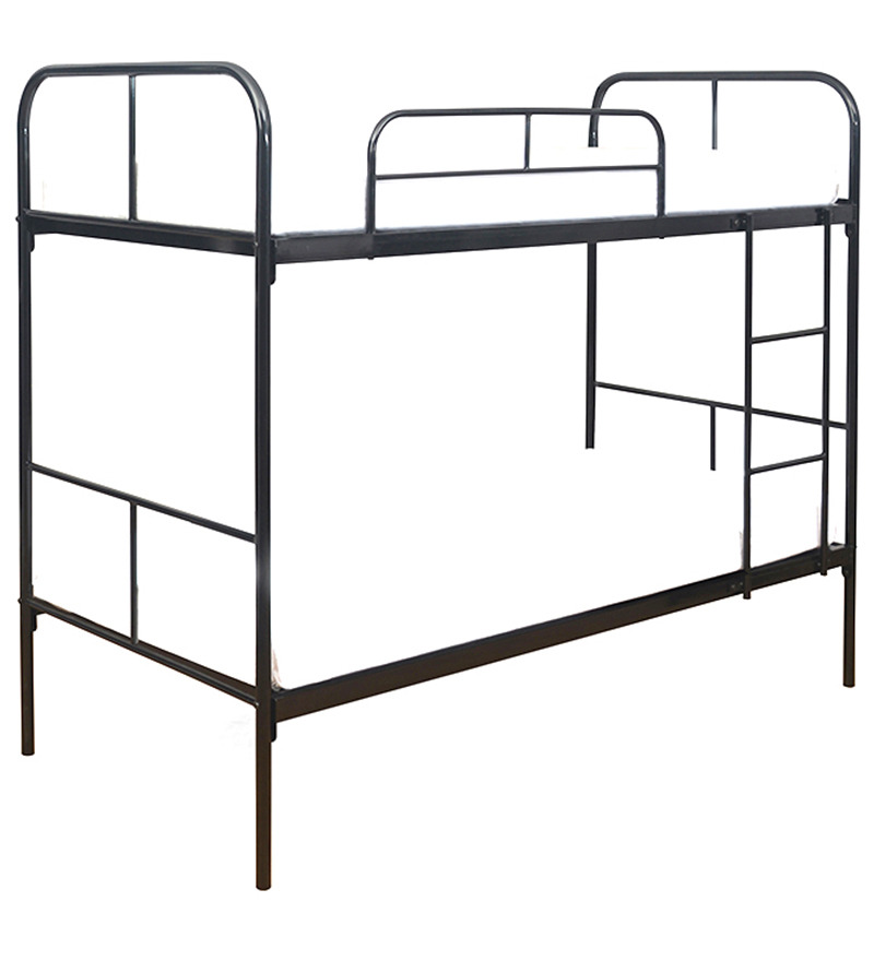 Twin Over Full Metal Bunk Bed with Set of Two Mattresses