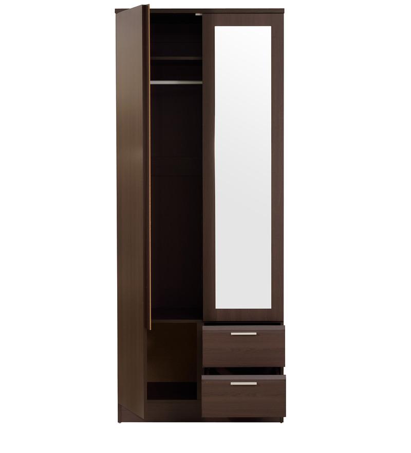 Buy noriko two door wardrobe with storage shelves and for 1 door wardrobe with shelves