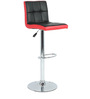 Twin Bar Chair in Black & Red by The Furniture Store