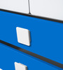 Two Door & Two Drawer Wardrobe in Blue & White Colour by Alex Daisy