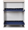 Two Door Metal Shoe Rack in Blue Colour by FurnitureKraft