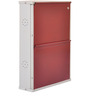 Two Door Metal Shoe Rack in Maroon Colour by FurnitureKraft