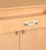 Two door Shoerack in Beech color by Woodfurn