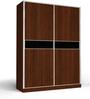 Two Door Sliding Wardrobe in PLPB with Clssic Walnut Finish by Primorati