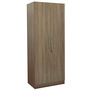 Two Door Wardrobe in Brown Colour by Penache Furnishings