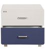 Two Drawer Bedside Table in White & Blue Colour by Royal Oak