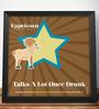 Two Gud Capricorn - Talks A Lot Once Drunk Zodiac Wall Poster