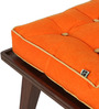 Two is Company Bench in Orange Colour by DwellDuo