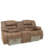 Two Seater Manual Recliner with storage & Cup holder in Brown Color by Star India
