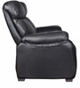 Two Seater Half Leather Recliner Sofa in Black Colour by Star India
