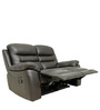 Two Seater Recliner Sofa in Half Leather Dark Brown Colour by Star India