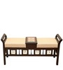 Two Seater Bench in Walnut Finish by ExclusiveLane