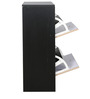 Two Slide-Open Drawer Shoe Rack in Black & Ivory Colour by Parin