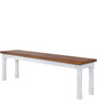 Baronet Bench in Dual Tone Finish by Amberville