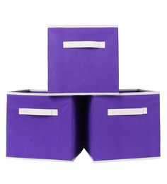 UberLyfe Cubies Storage Boxes for anything and everthing - Purple 3PC