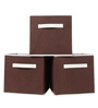 UberLyfe Cubies Storage Boxes for anything and everthing - Brown 3PC