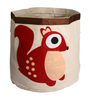 Uberlyfe Cylindrical & Foldable Cum Sack with Squirrel Applique Polyester 8 L Storage Box