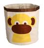 Uberlyfe Cylindrical & Foldable Cum Sack with Yellow Monkey Applique Polyester 8 L Storage Box