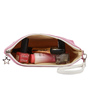 Uberlyfe Eiffel Tower PU Leather & Polyester Pink Multipurpose Pouch