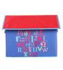 Uberlyfe House Shaped Medium Polyester Blue Storage Box