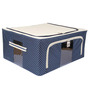 UberLyfe Blue Polyester with Steel Frame Clothes Storage Box