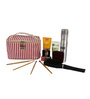 Uberlyfe PU Leather & Polyester Red & White Cosmetic Bag Cum Travel Organiser