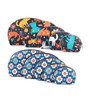 Uberlyfe Women's Kitten Motif & Floral Print Multipurpose Leather Black & Blue Pouch - Set of 10